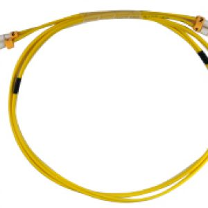 Yellow Single Mode Duplex Fiber Optic Cables – LC/LC