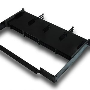Patented Fiber Cassette Rack – Holds Three 12 Fiber Cassette Trays